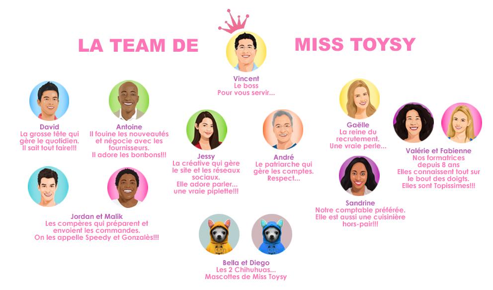 l'équipe de vente de Miss Toysy 2019